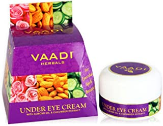 Vaadi Herbals Under Eye Cream, Almond Oil and Cucumber Extract, 30g