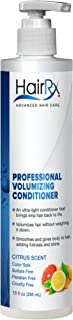 HairRx Professional Volumizing Conditioner with Pump, Citrus Scent, 10 Ounce