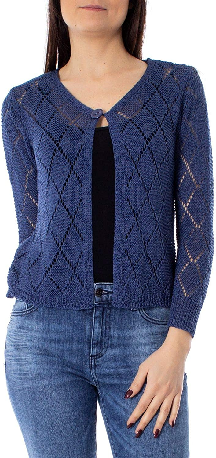 One.0 Women's OZ18blueE bluee Acrylic Cardigan