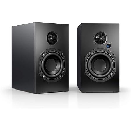 Nubert Nubox A 125 Regallautsprecherpaar Pc Lautsprecher Mit Bluetooth Aptx Hifi Lautsprecher Für Das Wohnzimmer Aktive Regalboxen Mit 2 Wege Technik Kompaktlautsprecherset Schwarz 2 Stück Audio Hifi