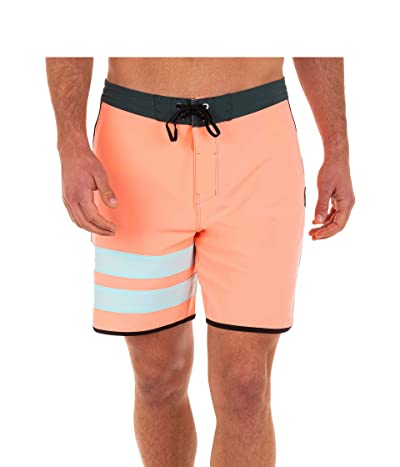Hurley 18 Phantom Block Party Boardshorts (Atomic Pink) Men