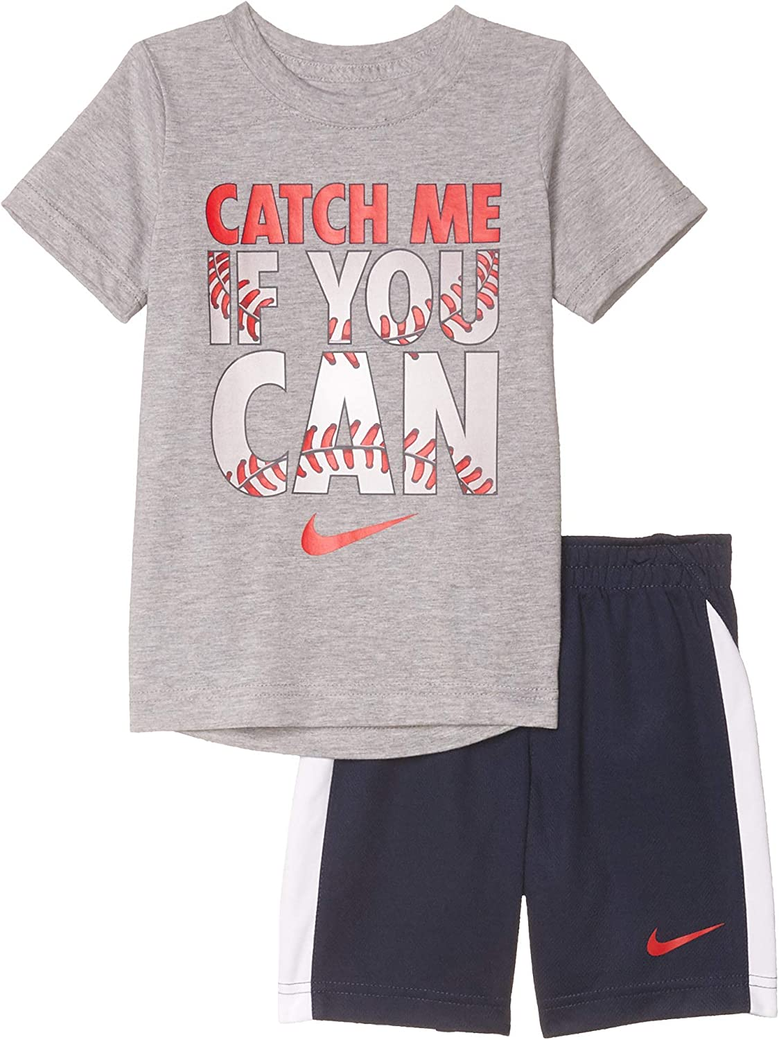 Nike Over item handling ☆ Kids Boy's Catch shipfree Me If You Shorts Set Can Kid Little Tee