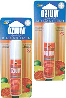 Ozium Smoke & Odor Eliminator Car & Home Air Sanitizer / Freshener, 0.8oz Spray Citrus - Pack of 2