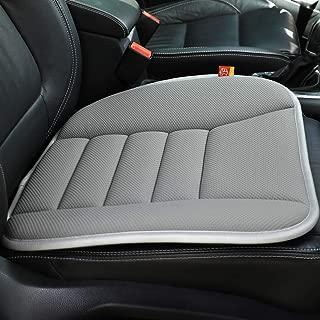 RaoRanDang Car Seat Cushion Pad Non-Slip Mat for Car Driver Seat Office Chair, Computer Chair with Non Slip Bottom Memory Foam Seat Cushion (Gray)