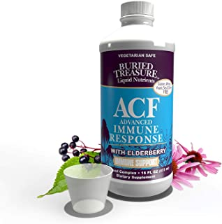 Sponsored Ad - Buried Treasure ACF Advanced Immune Response with 1,000 mg Vitamin C, Elderberry, Echinacea and Herbal Blen...
