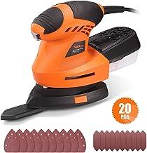 TACKLIFE Detail Sander 1.67A, Advanced 360° Rotatable Sanding Pad, Finger Pad Mounting..