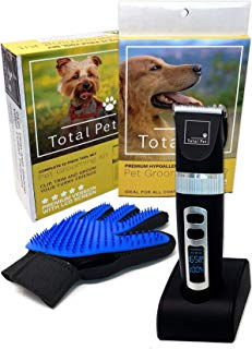 Dog Clippers: 12-Piece Pet Grooming Kit, Ultra Quiet, All Hair Types