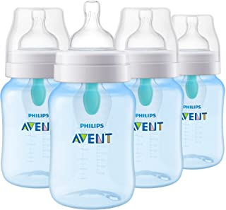 Philips Avent Anti-Colic Bottle with AirFree Vent, 9oz, 4pk, Blue, SCY703/24