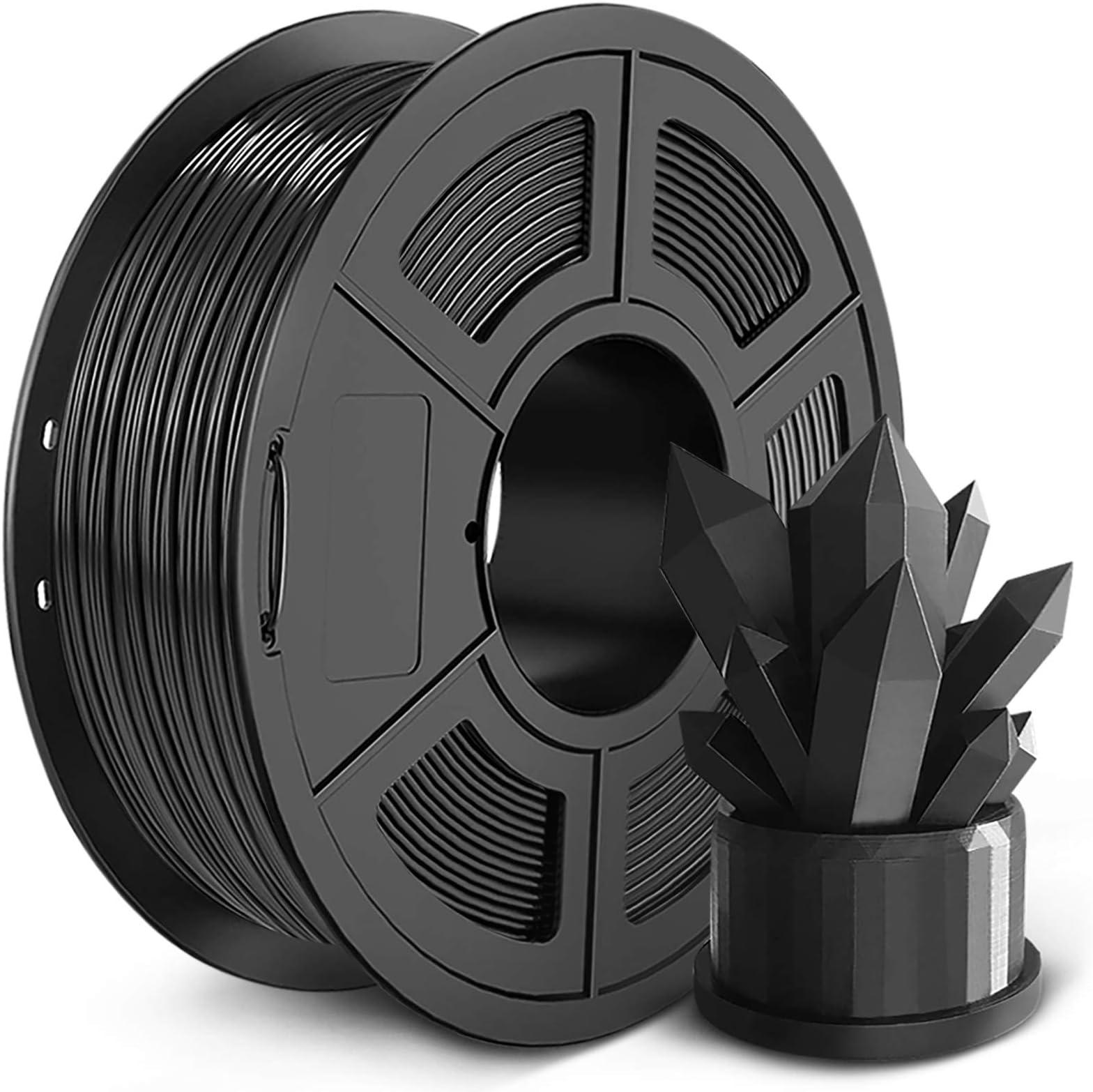 PLA 3D Printer Filament 1.75mm, SUNLU PLA Filament, Dimensional Accuracy +/- 0.02 mm, 1 kg Spool, PLA 1.75 Black