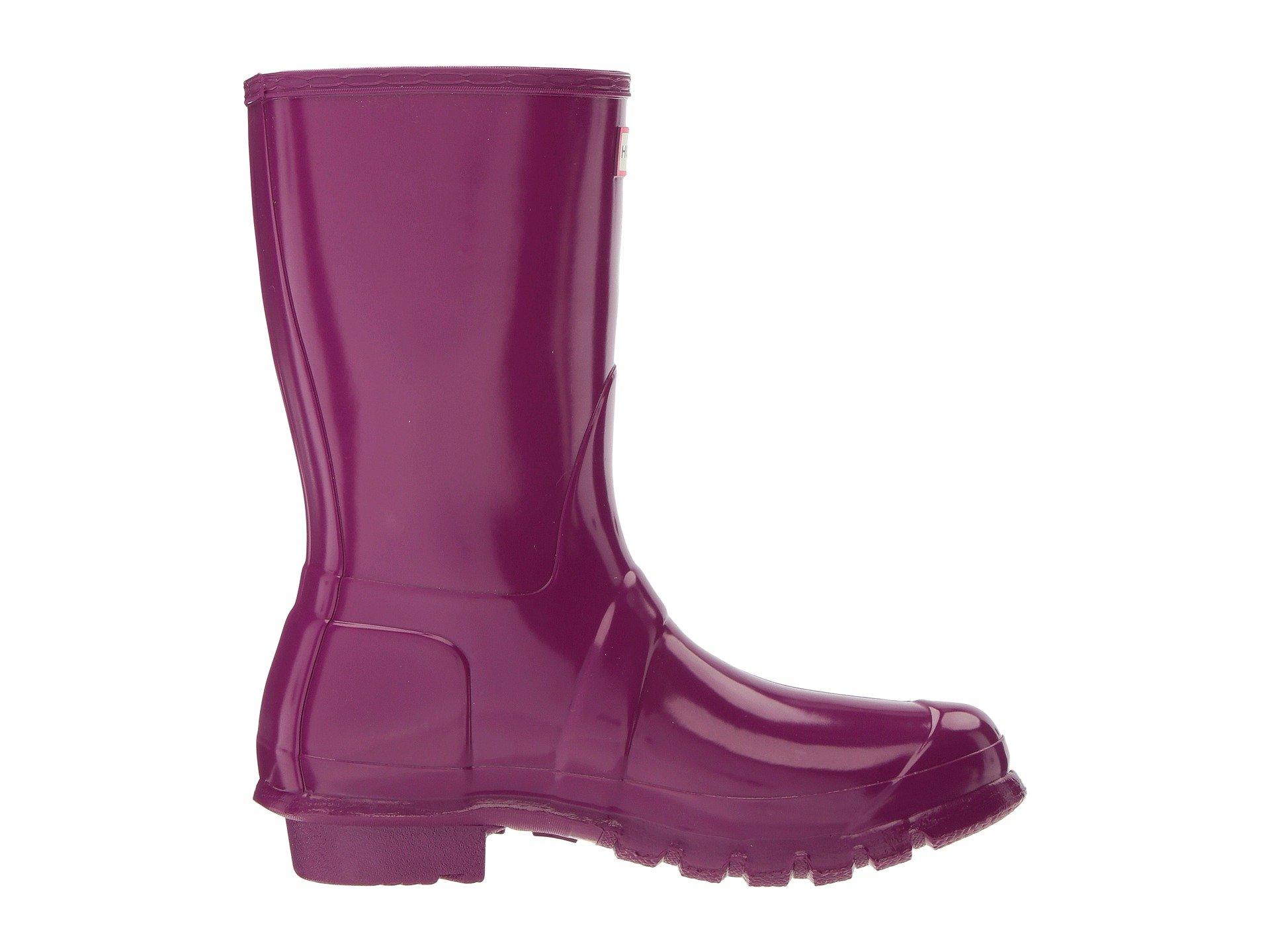 Boots Gloss Hunter Original Rain Violet Short Fgcqyf0vIw