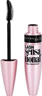 Maybelline Lash Sensational Washable Mascara, Blackest Black, 0.32 Fl Oz, Pack of 1