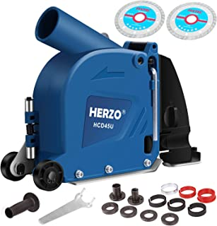 HERZO Cutting Dust Shroud Cover for Angle Grinder 5-inch Double Cutting Dics Design
