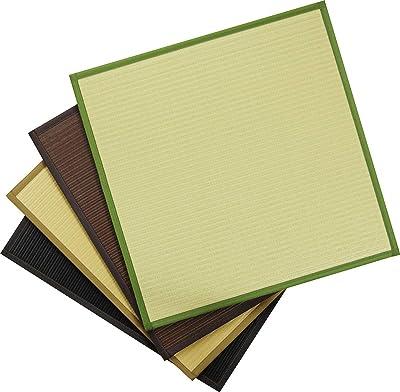 イケヒコ 置き畳 ユニット畳 PP 軽量タイプ スカッシュ ブラック 約82×82×1.7cm 6枚1セット #8611130