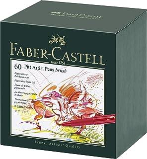 Faber-Castell Vibrant Pitt Artist Brush Pens, Assorted – Box of 60, (54-167150)