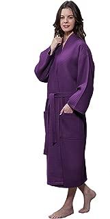 Lightweight Long Waffle Kimono Unisex Spa Robe