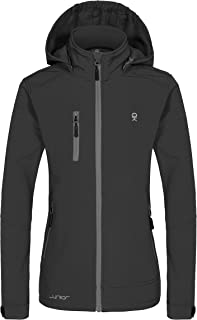 Little Donkey Andy Girls' Softshell Jacket with Removable Hood, Fleece Lined and Water Repellent