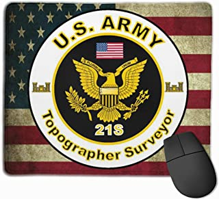 US Army MOS 21S Topographer Surveyor Mouse Pads Non-Slip Gaming Mouse Pad Mousepad