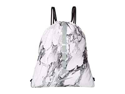 Nike Hoops Elite Gym Sack (White/Black/Silver) Backpack Bags