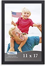 Icona Bay Picture Frames, Photo Frame with Mat Family Picture Frame, Liberty Collection, Wood Composite, Black, 11x17
