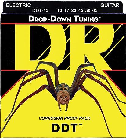 Amazon.co.jp: DR エレキ弦 DROP-DOWN TUNING ニッケルメッキ .013-.065 DDT-13 : 楽器・音響機器