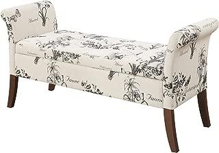 Convenience Concepts Designs4Comfort Garbo Storage Bench, Botanical Fabric