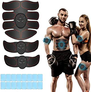 iThrough Elettrostimolatore per Addominali, Elettrostimolatore Muscolare, EMS Stimolatore Muscolare, ABS Trainer/Toner per...
