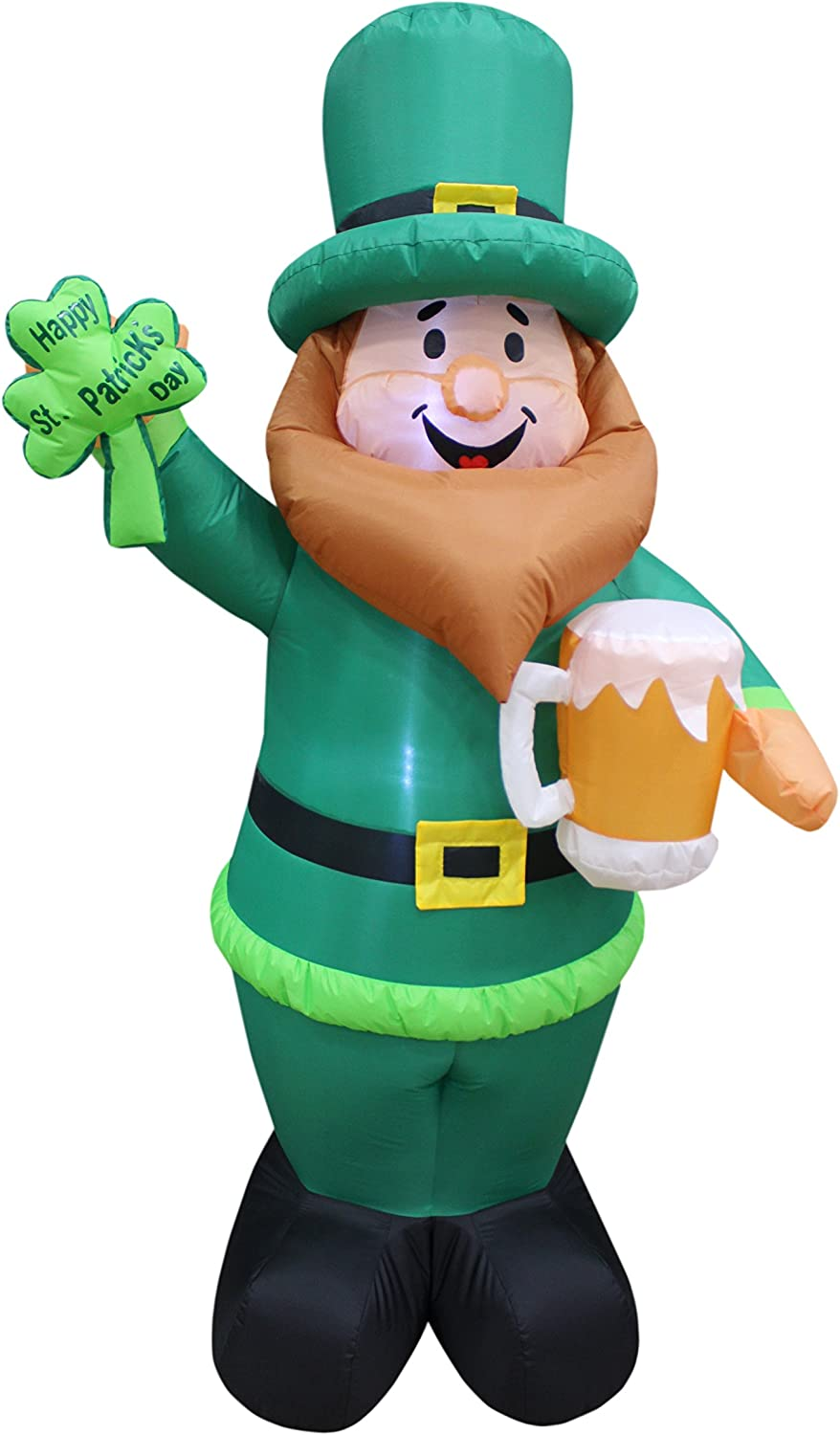 6 Foot Tall Lighted St Day Inflatable Classic Leprechaun Patricks Attention brand Holdin