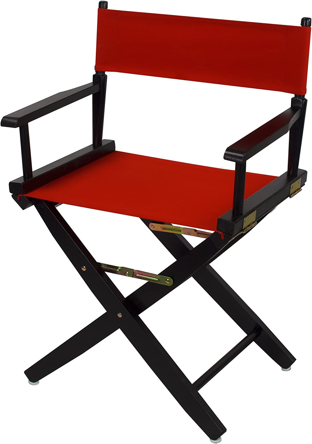 American Trails Extra-Wide Premium 18  Director's Chair Black Frame with Red Canvas