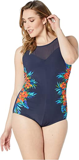 Plus Size Samoan Sunset Fascination One-Piece
