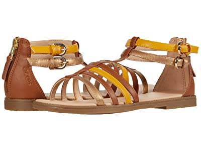 Geox Kids Sandal Karly 36 (Big Kid) (Caramel) Girl