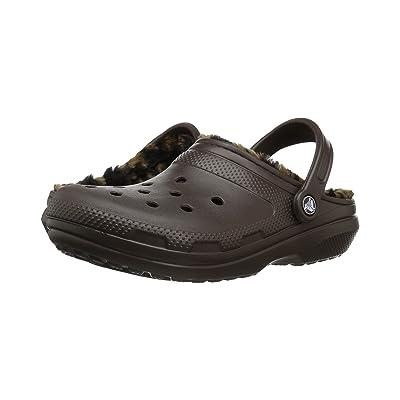 Crocs Classic Lined Animal Clog (Espresso/Black) Clog/Mule Shoes
