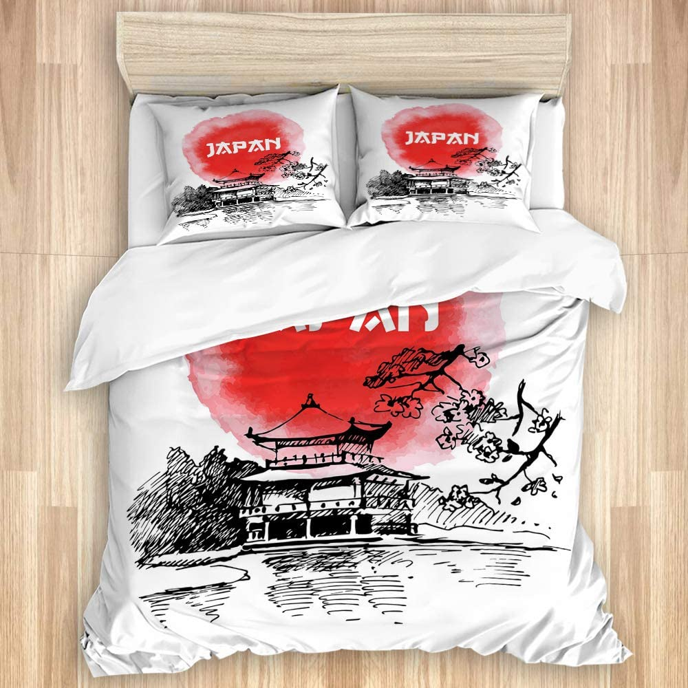 LONSANT Washed Cotton Duvet Cover Styl Sketch Set Watercolor and Ranking TOP20 gift