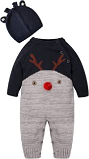 5145ab951 ZOEREA bebé recién nacido Suéter unisex Deer pattern design Otoño y  invierno Navidad por 0-