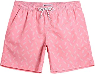 af4bc7fefc MaaMgic Mens Quick Dry Swim Trunks with Mesh Lining Flamingo Boardshorts