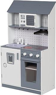 roba 480227 Kinderküche lackiert, inklusiv Herd, Spüle, Wasserhahn, Mikrowelle, Grill, mehrfarbig
