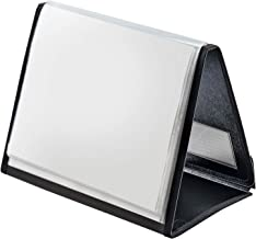 Cardinal Easel ShowFile Presentation Book, 20 Pockets, Holds 40 Letter-Size Sheets, Horizontal Display, Customizable Cover, Black (52132)