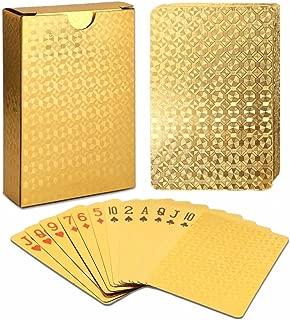ALI LI Playing Cards Luxury Waterproof 24K Gold Diamond Foil Poker Carta