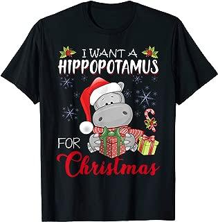 I Want A Hippopotamus For Christmas Xmas Hippo for Kid Women T-Shirt