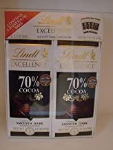 Lindt Excellence Smooth Dark Chocolate 70% Cocoa Bars - Includes: 4 - 3.5oz Bars