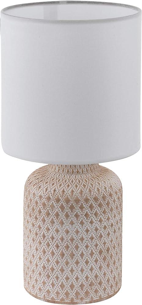 Eglo bellaria - lampada da tavolo ,  in ceramica e tessuto 97773