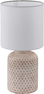 Eglo 97773 Lampe de Table, Céramique, 40 W, Crème/Blanc