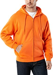 TSLA Men's Active Sweatshirt Fleece Performance Cotton Mix Hoodie