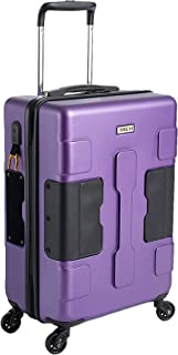 TACH TUFF Hardcase Connectable Carry-on Luggage | Rolling Suitcase with Patented Built-in Connecting System | Easily Link & Carry 9 Bags at Once (Purple)