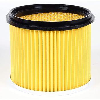 Einhell Filtro de repuesto plisado original con cubierta, adecuado para aspirador seco / húmedo, usar al aspirar en seco