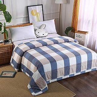 Edredones-Regalo de Verano-algodón no Impreso Lavado Verano Fresco-edredón Fino de algodón lavable-azul-180 * 220,Funda para nordico,Fundas nordicas Cama
