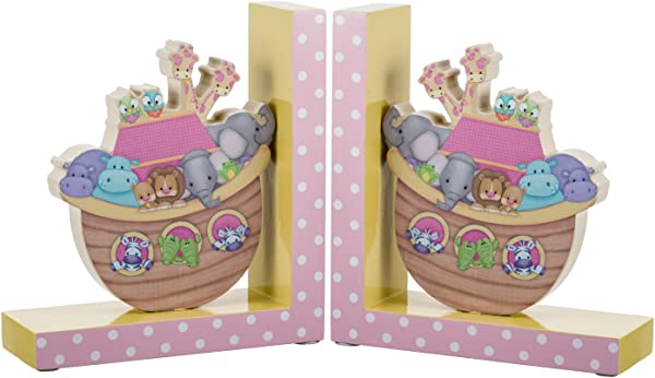 Borders Unlimited Noah S Pastel Pairs The Ark Wooden Children S Bookends