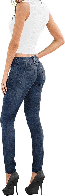 Lexi Women's Super Comfy Stretch Denim Skinny Jeans XPS37381SK bluee Acid 10