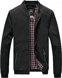 Men's Casual Slim Lightweight Softshell Zipper Windbreakers Bomber Jacket