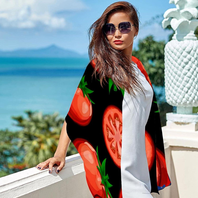 Scarfs for Women Lightweight Print Floral Pattern Scarf Shawl Fashion Scarves Sunscreen Shawls, Vegan tomatoes