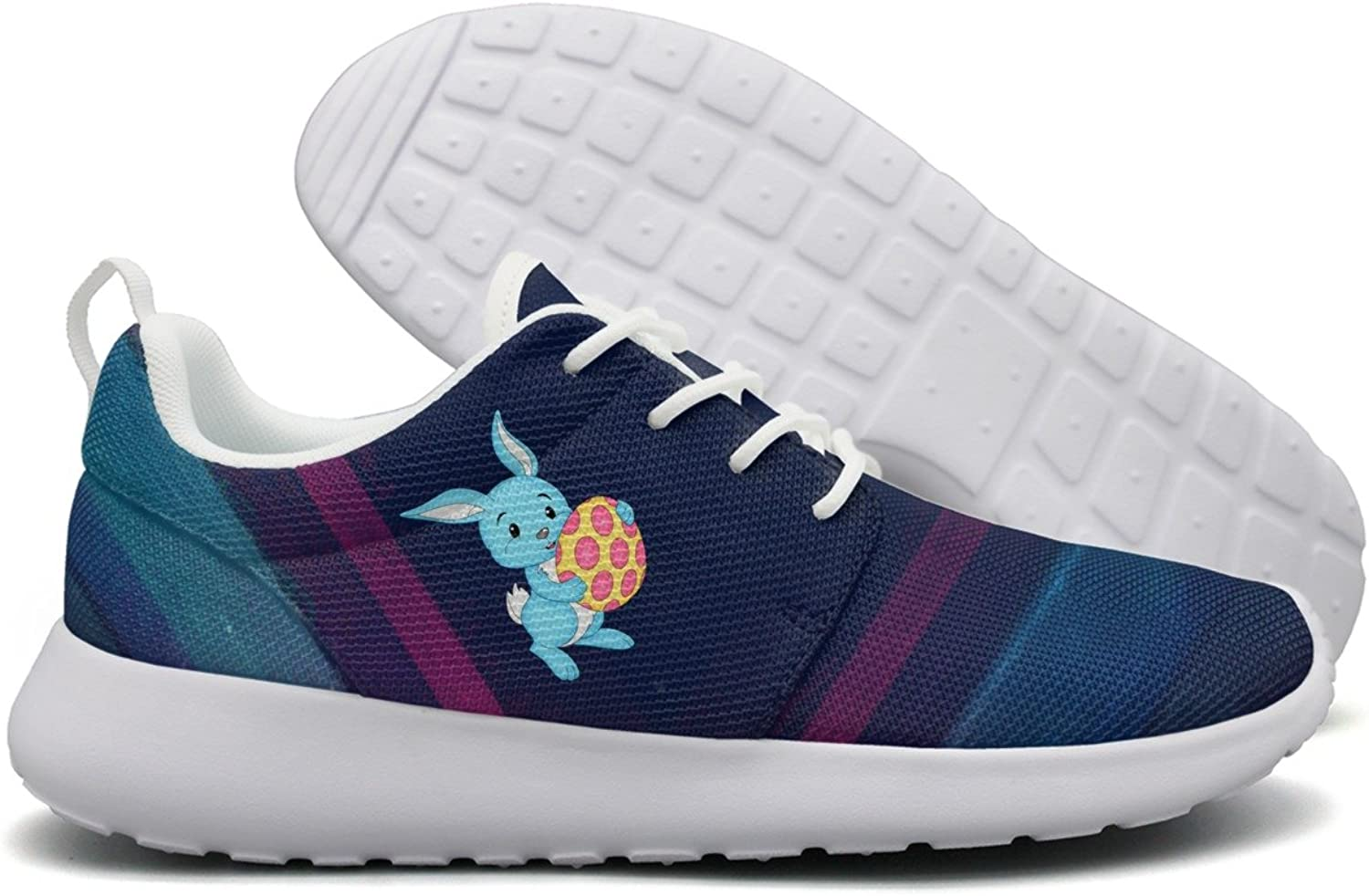 Easter bluee Bunny With Egg Women Flex Mesh Womens Casual shoes